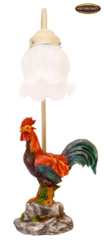 Naturecraft Rooster Table Lamp Figurine