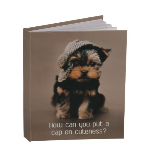 Pawz By Naturecraft 'How Can You Put A Cap on Cuteness' A6 Notebook
