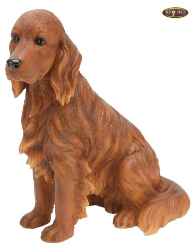 Best Of Breed by Naturecraft – Red Setter Seated Dog – Large 25cm