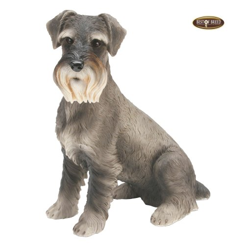 Best Of Breed by Naturecraft – Schnauzer Seated Dog – Large 25cm