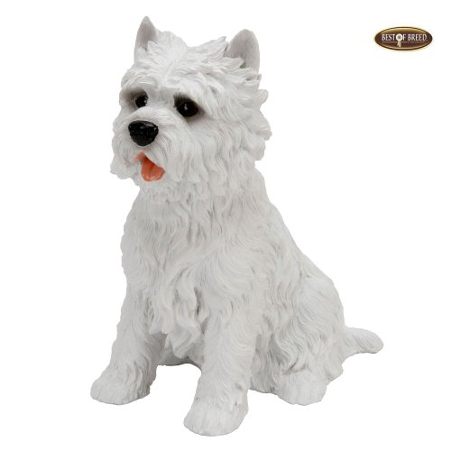Best Of Breed by Naturecraft – West Highland Terrier Seated Dog – 15cm