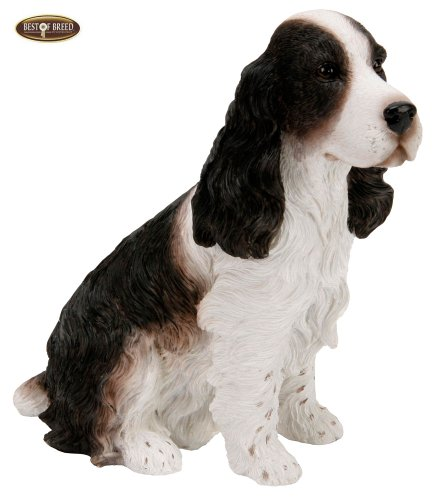 Best Of Breed by Naturecraft – English Springer Spaniel Seated Dog – 15cm