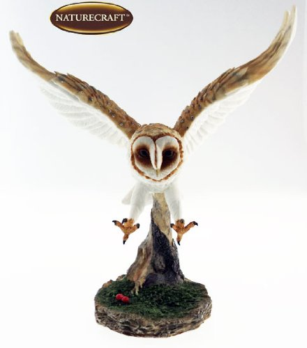 Naturecraft Realistic 12″ Flying Owl In Flight Ornament