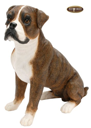 Best Of Breed by Naturecraft – Boxer Seated Dog – Large 25cm