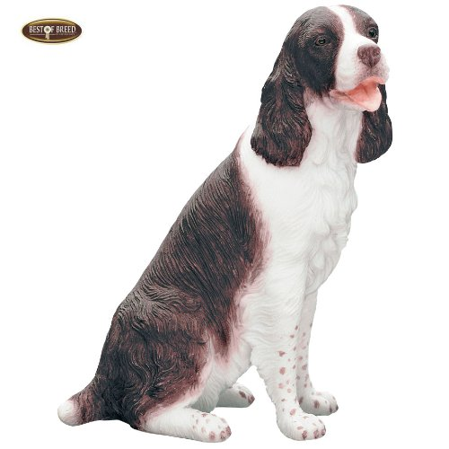 Best Of Breed by Naturecraft – English Springer Spaniel Liver and White Seated Dog