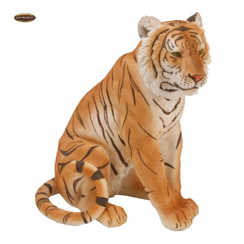 Naturecraft Realistic Animal Gift Ornament Tiger Sitting