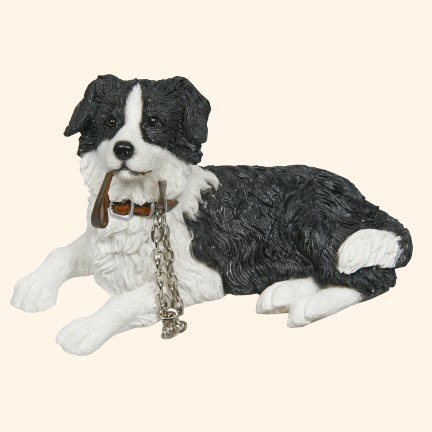 Best Breed Collie with lead figurine