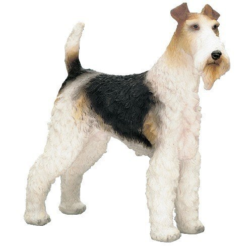 Small Hand Painted Wire Fox Terrier Pet Dog Standing Ornament Gift Statue