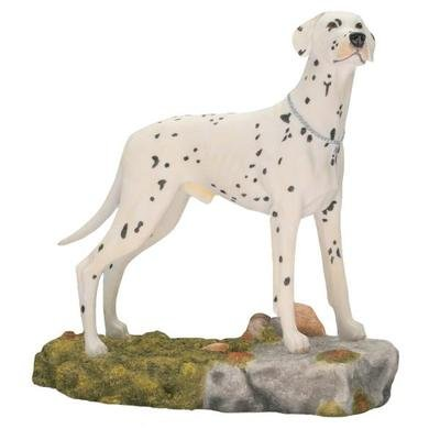 Best of Breed Standing Dalmation Figurine on Rock Brand New