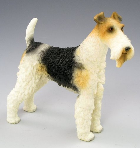 Hand Crafted & Painted Best Of Breed Wire Fox Terrier Dog Figure