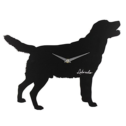 Best Of Breed Silhouette MDF Wall Clock 35cm – Labrador