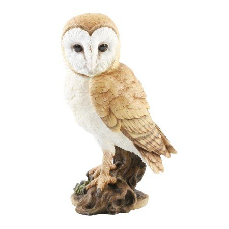 Naturecraft Realistic Barn Owl Figurine Statue Ornament