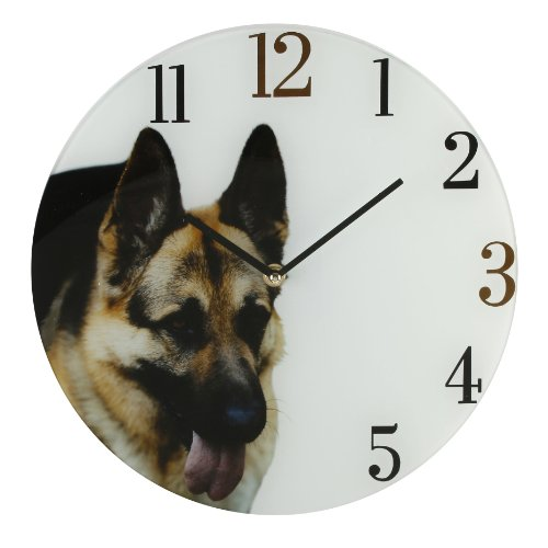 Best Of Breed Dogs Glass Wall Clock – German Shepherd / Alsation
