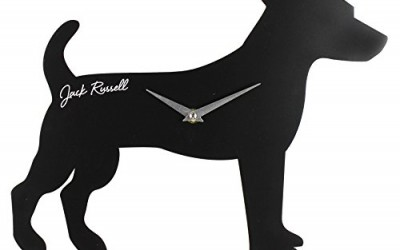 Best Of Breed Silhouette MDF Wall Clock 35cm – Jack Russell