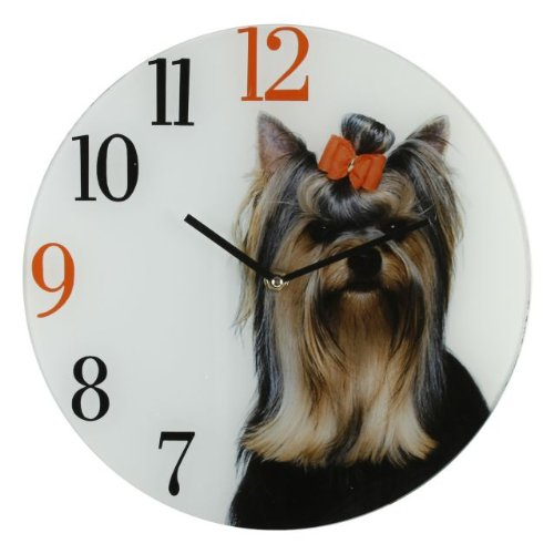 Best Of Breed Dogs Glass Wall Clock – Yorkshire Terrier