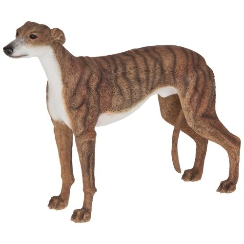 BEAUTIFUL BEST OF BREED BRINDLE GREYHOUND DOG FIGURE ORNAMENT DOGS NEW & BOXED