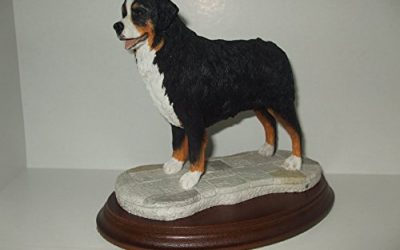 Best Of Breed BERNESE MOUNTAIN Dog Ceramic Resin Sculpture Hand Painted In England
