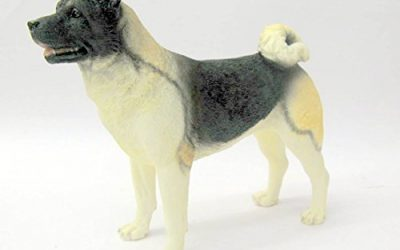 Best Of Breed Japanese Akita – Pinto Dog Figurine By Naturecraft 6″ High