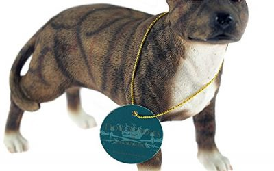 Med Standing Brown Brindle Staffordshire Bull Terrier Staffie Dog Figurine Ornament